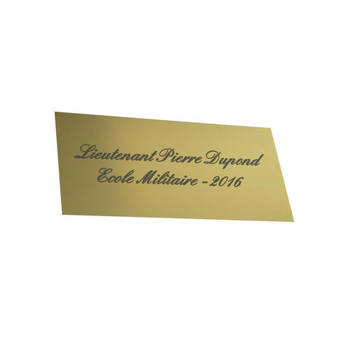 Brass or gold-lacquered plate - laser engraving