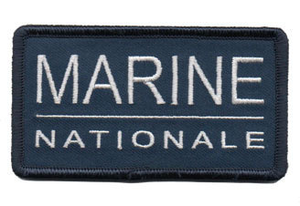 Ecusson Marine Nationale avec velcro