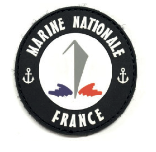 Ecusson Marine Nationale -plastifié avec velcro