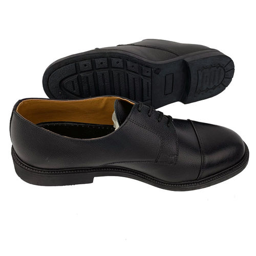 Black leather shoes for ceremony